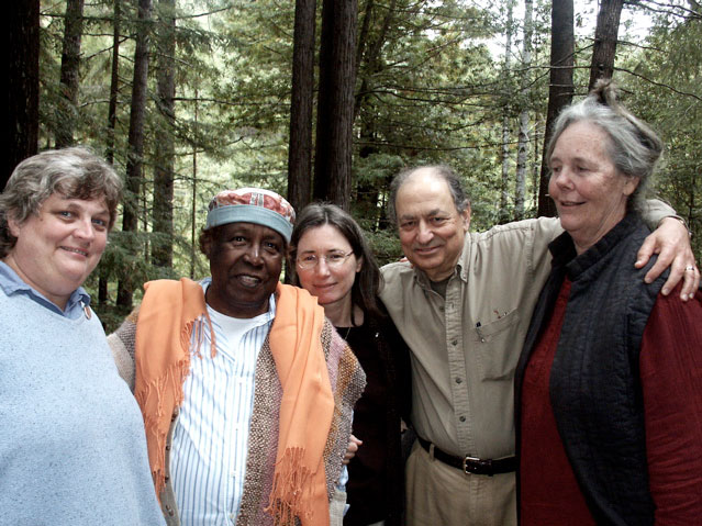 Mendocino Sufi Camp - left to right - Jelehla, Hamza, Devi, Allaudin and Asha - 2000s