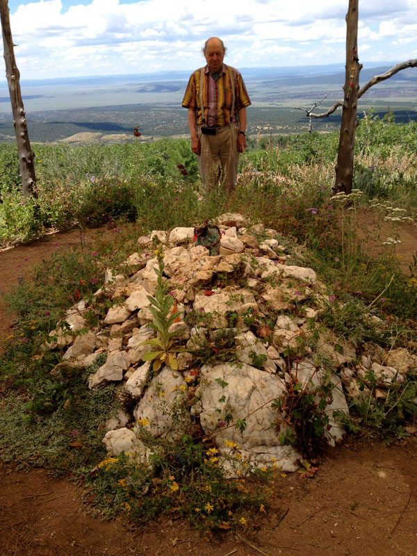 William Mathieu - Visiting Murshid's maqubara, Lama Foundation, New Mexico - 2017