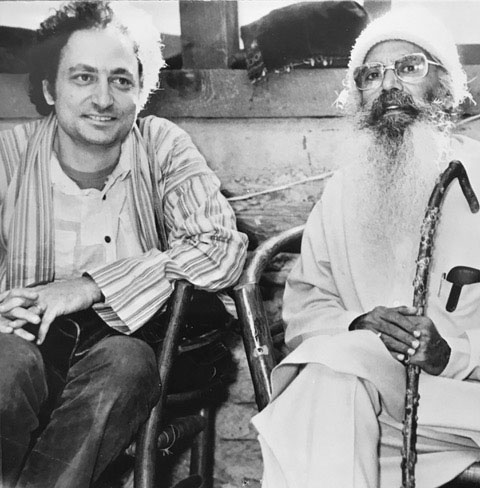 William Allaudin Mathieu with Pandit Pran Nath